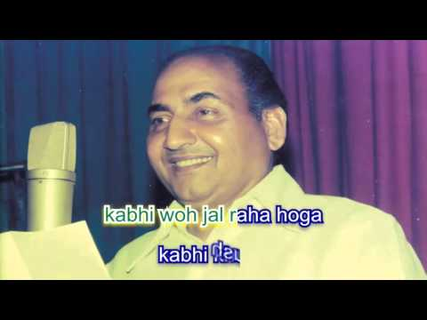 khuda bhi aasman se karaoke with lyrics
