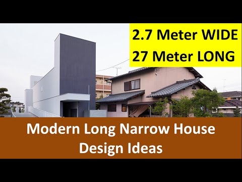 2 7 Meters Wide Long Narrow House Design Ideas