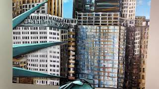 SLAVES OF NEW YORK A standing 6 foot 3D painting.