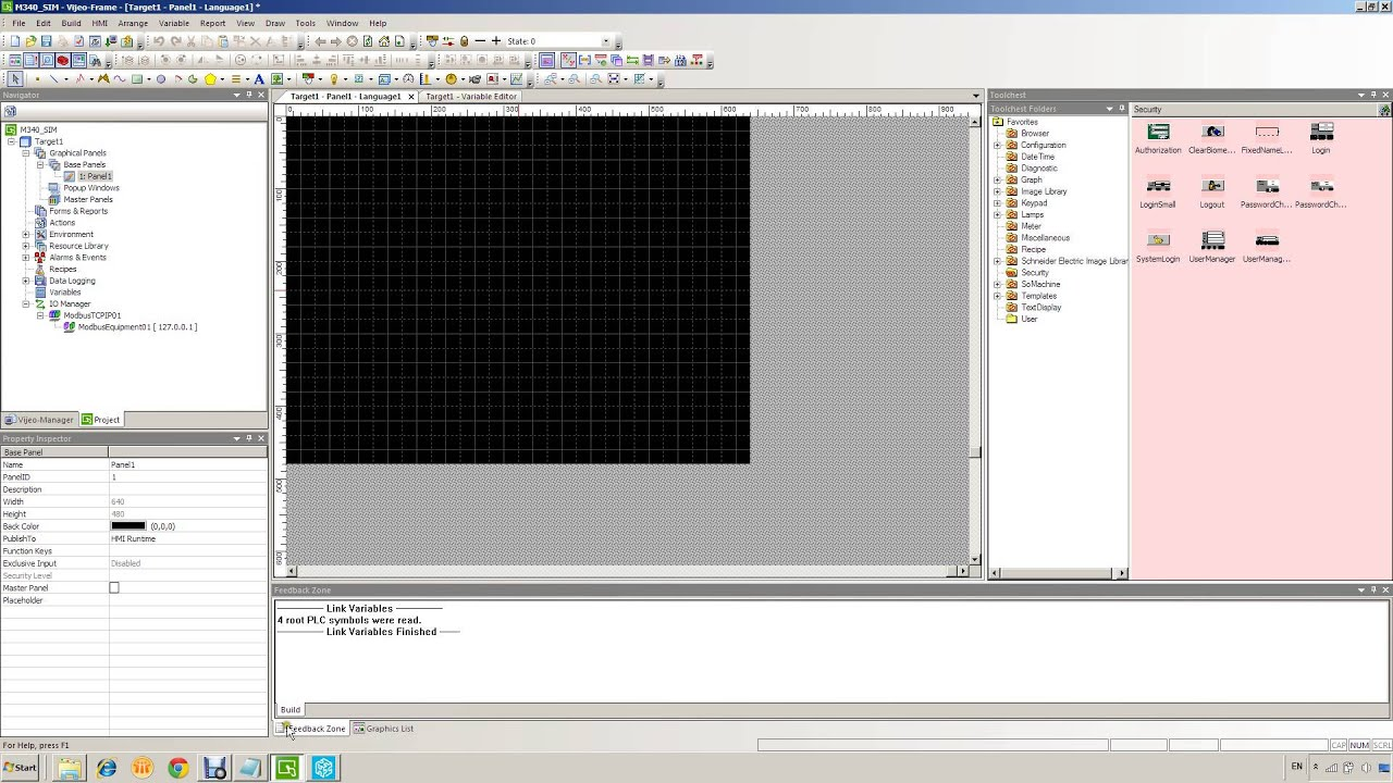 Vijeo Designer 007 Connect HMI to M340 Simulator - YouTube
