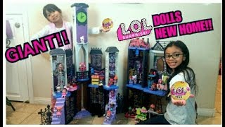 GIANT L.O.L SURPRISE DOLLS HOUSE !OPENING L.O.L SURPRISE PETS /WE FOUND GOLD BALL GIVEAWAY/SHOUTOUT!