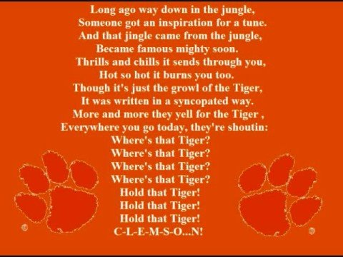 Clemson Tigers Fight Song Youtube