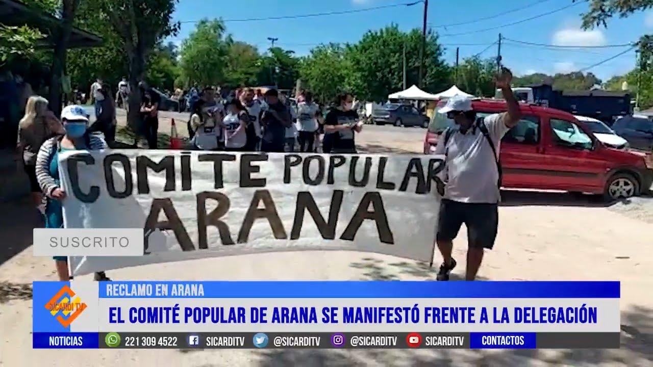 Movimientos sociales y vecinos se manifestaron en Arana