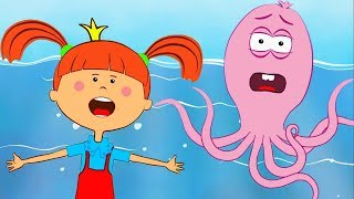 Жила была Царевна Новая серия Спасение осьминога Обучающие мультики и песенки для детей