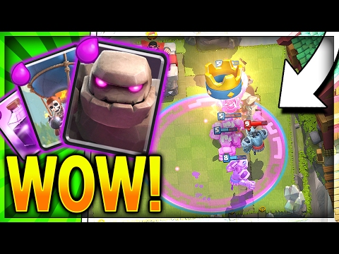 THE NEW GOLEM DECK!! GOLEM BALLOON RAGE = WIN!! 4000+ Trophy Legendary Arena 10 Deck in Clash Royale