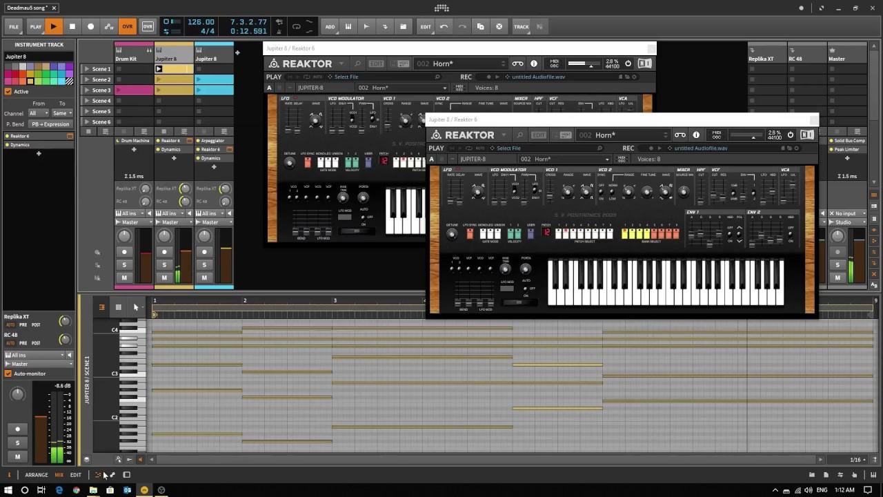 Recreating Deadmau5's stream using Reaktor Jupiter 8