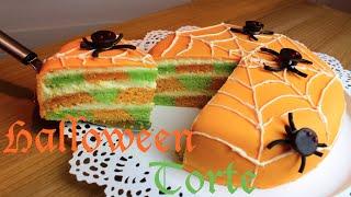 Halloween Spinnen Torte / Halloween Spidercake - mit Nihan0311