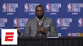LeBron James shows off photographic memory, recalls Celtics' late rally in Game 1 vs. Cavs | ESPN
