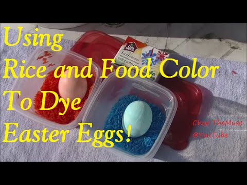 Easter Eggs Dyed with Rice and Food Coloring - YouTube