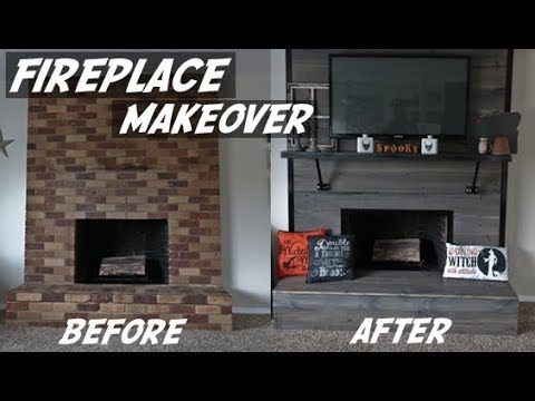 DIY Fireplace Makeover | Fireplace Remodel | DIY Fireplace | DIY Faux Fireplace | DIY Home Remodel