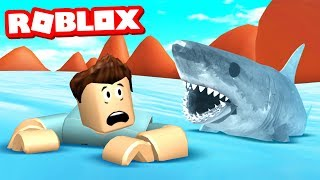 SURVIVE THE SHARK ATTACK IN ROBLOX