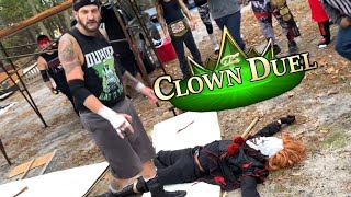 Duhop TABLE DIVES onto CLOWN FIEND In Youtube Championship Falls Count Anywhere Challenge!