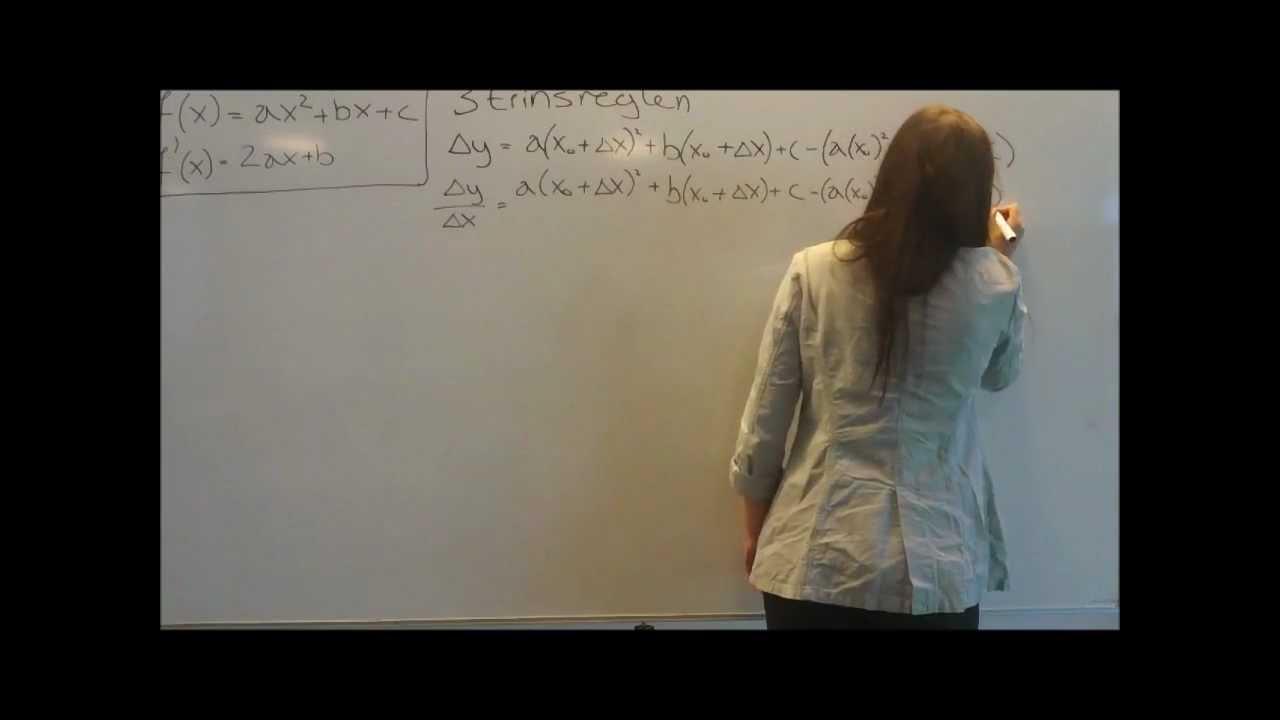 Video Matematik Differentialkvotient for andengradsfunktioner