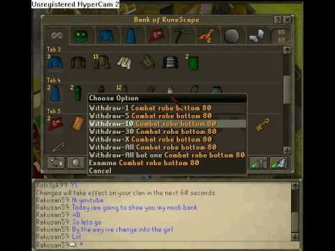 my runescape noob bank acc by wilgax1