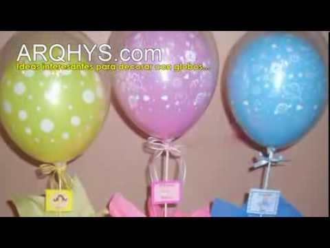 c mo decorar con globos para el baby shower youtube
