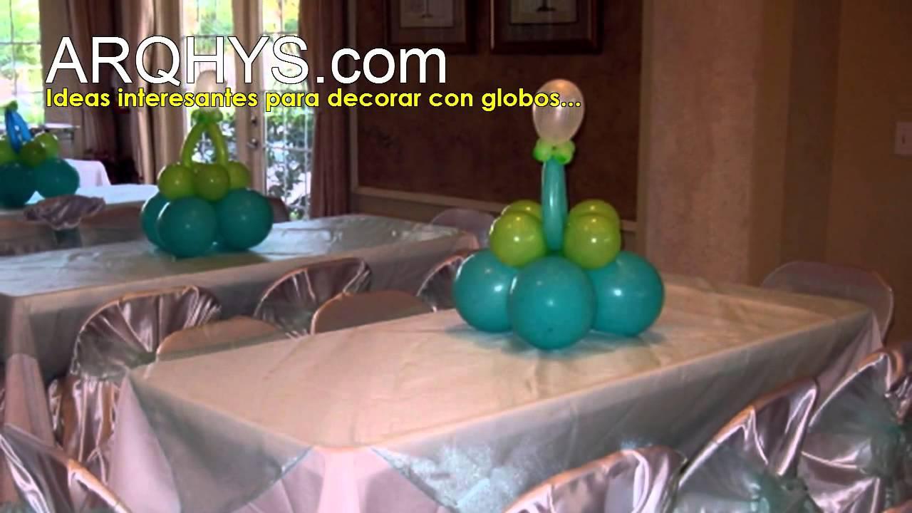 C mo decorar con globos para el baby shower youtube for Como decorar un patio grande