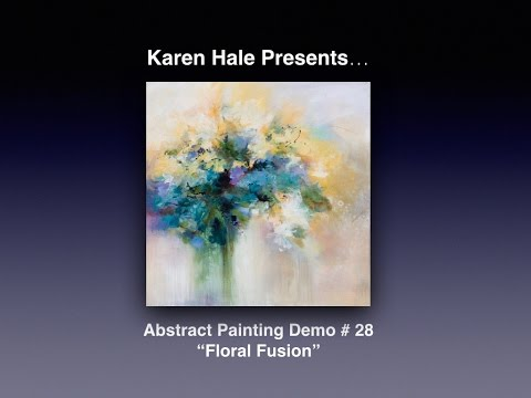 Painting Abstract Impressionistic Flowers Acrylic Paint On Canvas
