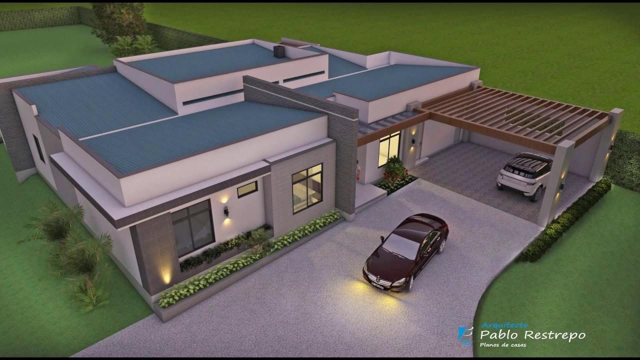 Dise o casa de campo moderna en un piso de 531 m2 youtube for Diseno de casas de campo modernas