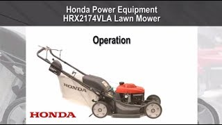 HRX2174VLA Lawn Mower Operation
