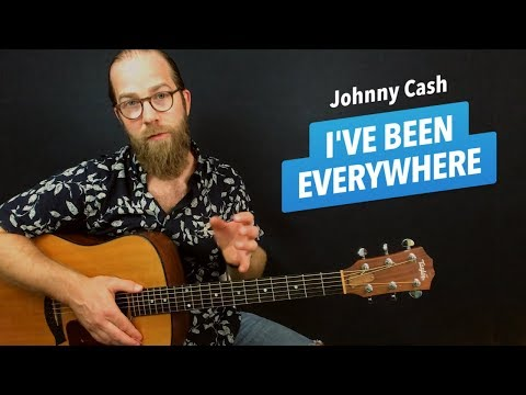 🎸 I've Been Everywhere • Johnny Cash guitar lesson w/ chords