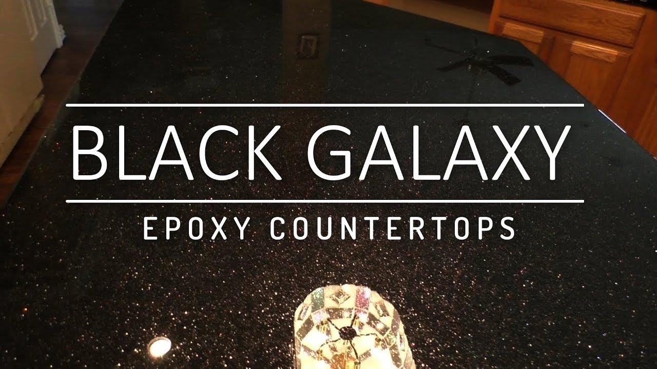 Black Galaxy Epoxy Countertops Youtube