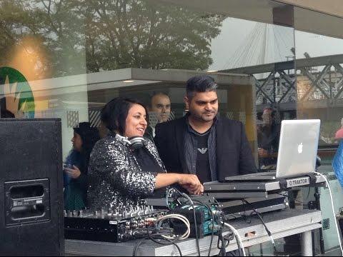 British Asian Female DJ Missy D at Alchemy Festival, London 2015