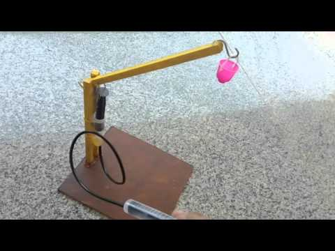 Hydraulic crane -single axis – Science and Technology Projects