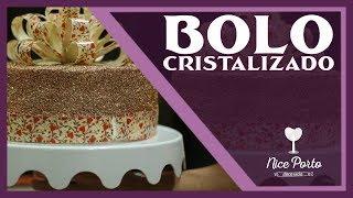 Técnicas de Cristalização (Com Laço  de Chocolate Decorado Com Transfer)