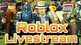 Robux Giveaway - Roblox Livestream - Playing With Subscribers LIvestream Giveaway At Sub Goal