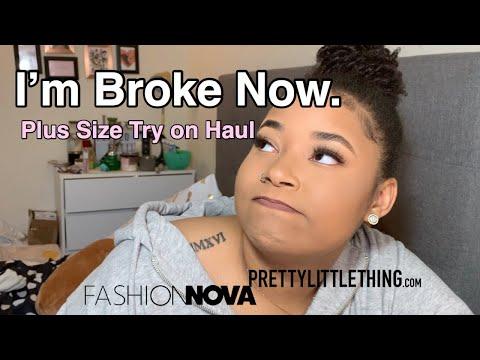 Plus Size Try-on Haul  PrettyLittleThing & Fashion Nova