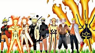 Naruto Uzumaki - All Forms (Naruto,Naruto Shippuden,Naruto The Last,Naruto Gaiden,Boruto Movie) 2016