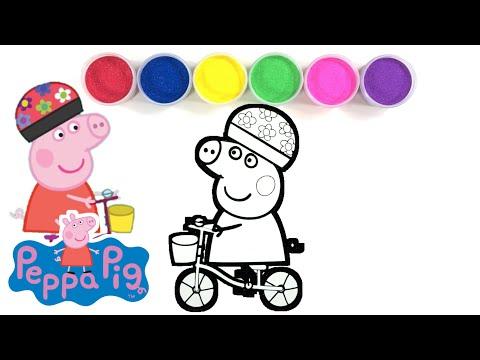 Peppa Pig Bicycle Sand Art ASMR ㅣPeppa Wutz  페파피그샌드아트 thumbnail