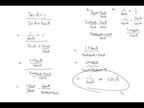 (6.4.2) Working with basic Trig Identities - Math Analysis