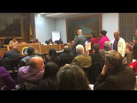 Plainfield residents protest at city council meeting