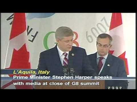 "Canadian Prime Minister Stephen Harper: ""There Is Going To Have To Be Global Governance"""