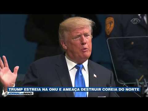Trump Estreia Na ONU Com Ameaça à Coreia Do Norte