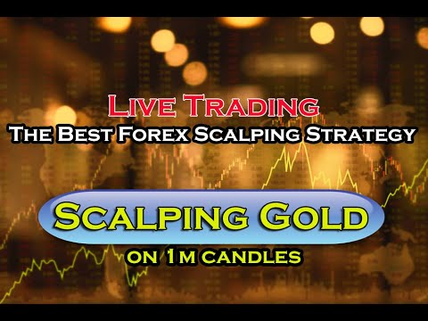 Live Forex Trading: Scalping GOLD on 1m candles