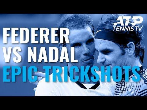 Epic Roger Federer vs Rafael Nadal ATP Trickshot Compilation!