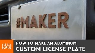 Custom License Plate // How-To