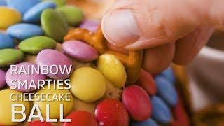 Rainbow Smarties Cheesecake Ball
