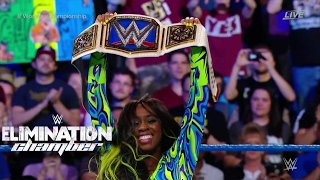 NAOMI WINS THE SMACKDOWN WOMEN'S CHAMPIONSHIP! WWE ELIMINATION CHAMBER 2017 RESULT! #WWEChamber