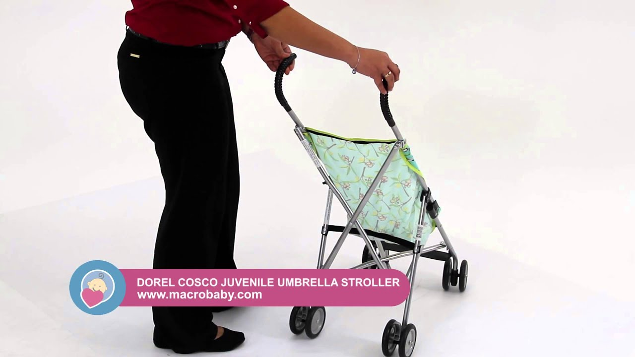 MacroBaby - Cosco Juvenile Umbrella Stroller (without canopy) - YouTube & MacroBaby - Cosco Juvenile Umbrella Stroller (without canopy ...