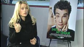 Video Alice Eve Interview for SHE'S OUT OF MY LEAGUE download MP3, MP4, WEBM, AVI, FLV April 2018