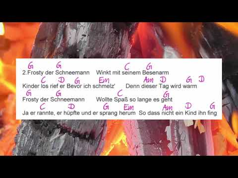 Frosty the Snowman - Chords and Lyrics - Campfireversion - Musikschach