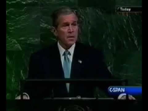 George Bush UN Speech 2001-11-10 Let us never tolerate conspiracy theories
