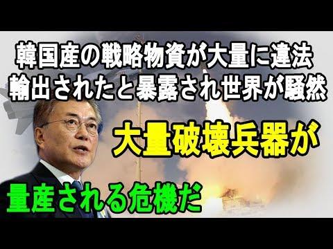 韓国産の戦略物資が大量に違法輸出されたと暴露され世界が騒然 大量破壊兵器が量産される危機だ
