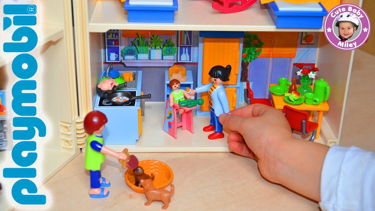 playmobil ausmalbilder familie hauser zum ausdrucken