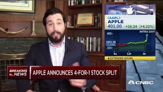 Apple announces 4-for-1 stock split amid earnings