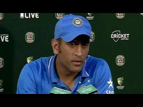 Disappointed MS Dhoni blames himself for Canberra heartbreak