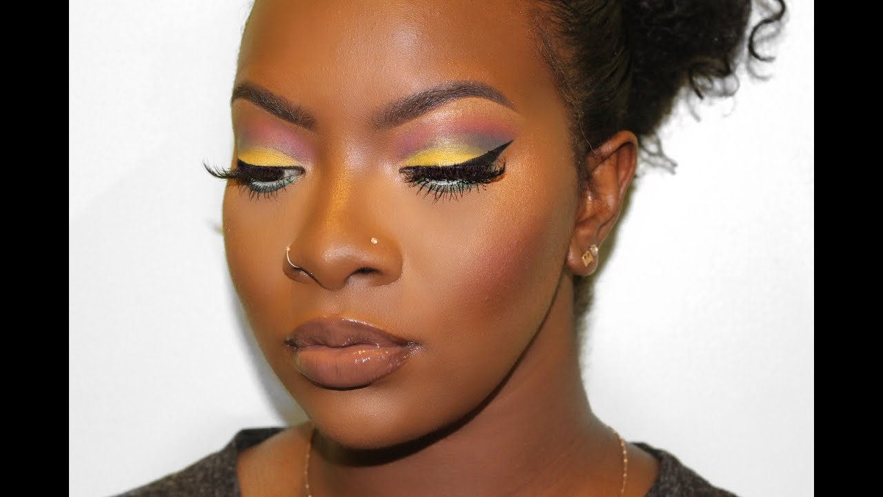 Spring Is Here Makeup Tutorial Dark Skin Youtube